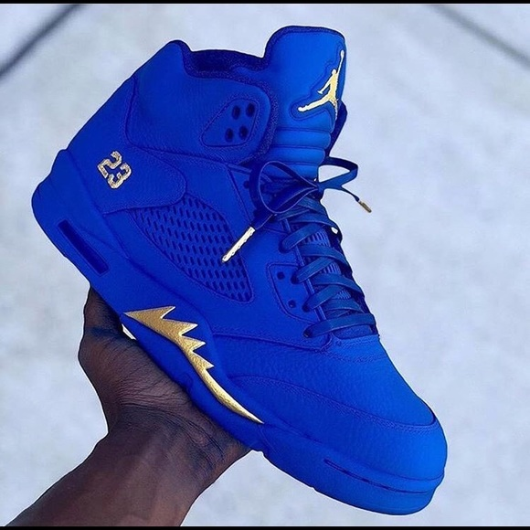 Jordan Shoes | Blue Custom 5s And 1s